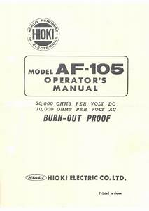 Hioki Electric Co  -- Af-105