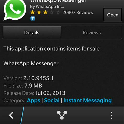 whatsapp update 2 10 9455 blackberry forums at