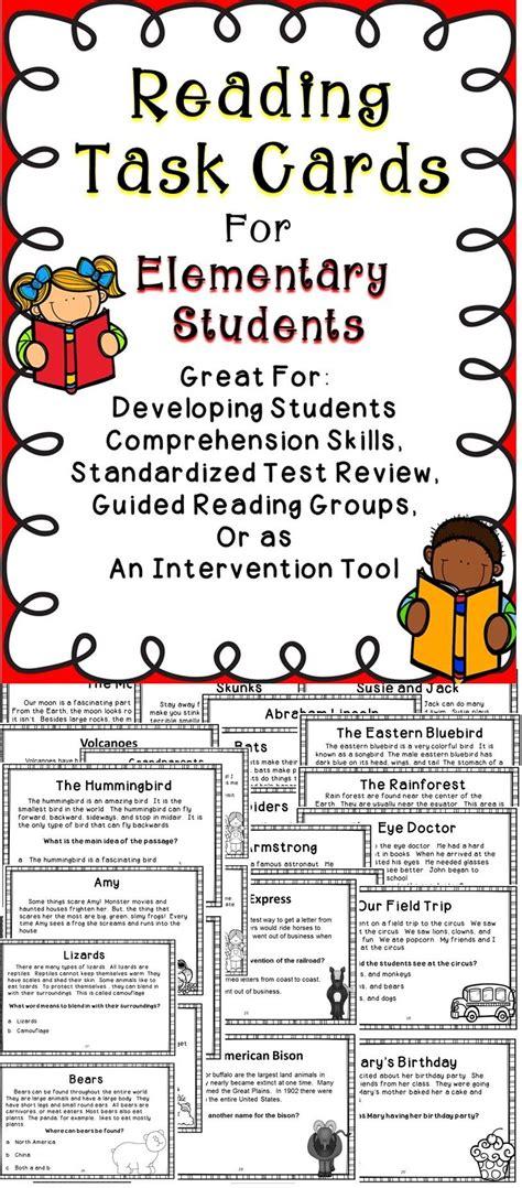 reading comprehension task cards reading comprehension