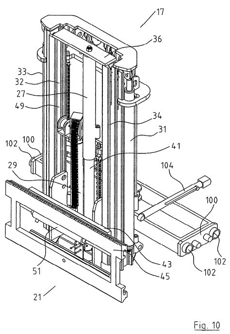 patent  truck mounted forklift  double acting freelift mast google patents
