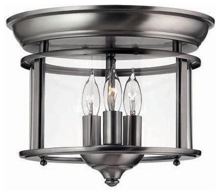 hinkley lighting 3473pw semi flush 3 light foyer gentry