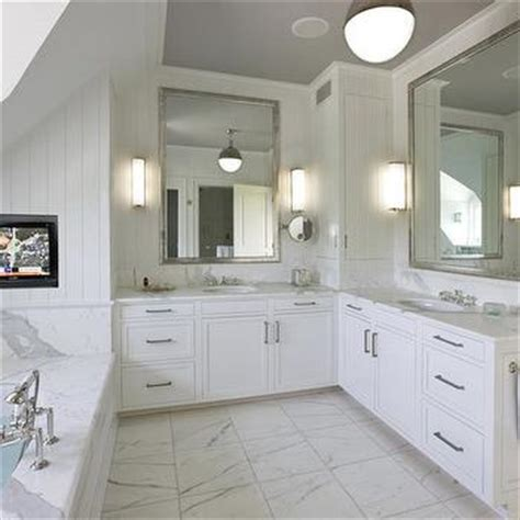 L Shaped Bathroom Vanity Design by Dual L Shaped Bathroom Vanity Design Ideas