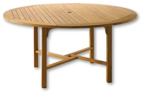 teak classic 60 quot table traditional outdoor