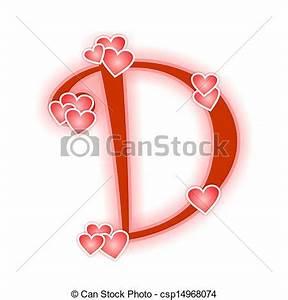 Stock Illustrations of Love Letter, alphabet D - Love ...