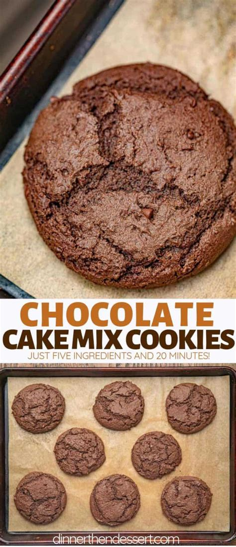 rich chocolate cake mix cookies  easy dinner