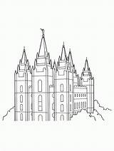 Temple Lds Coloring Salt Lake Clipart Church Simple Template Primary Outline Sketch Templates Mobile Tablet Gospel Building Comments Coloringhome Popular sketch template