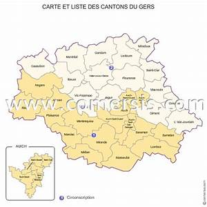 Carte Du Gers Détaillée : carte des anciens cantons du gers ~ Maxctalentgroup.com Avis de Voitures