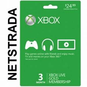 Xbox Live 3 Month Subscription 360 X1 Months USA Gold Gift