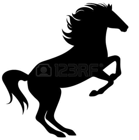 ferrari horse outline black horse rearing clipart 34