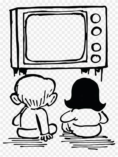 Watching Tv Clipart Drawing Television Commercial Cartoon
