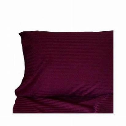 Duvet Cotton King Egyptian Burgundy 300tc Stripe