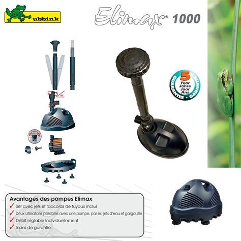 pompe pour bassin ext 233 rieur elimax 1000 ubbink 1351301 ubbink 1 ve