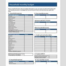 Printable Monthly Budget Template  21+ Free Excel, Pdf Documents Download  Free & Premium