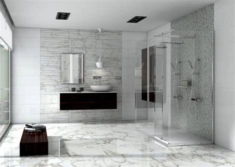 Modern Marble Bathroom by Carrara Marble Bathroom Frameless Shower