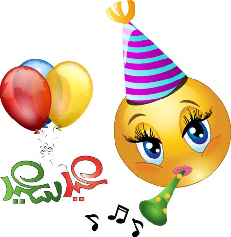 Party Girl Smiley Emoticon Clipart  I2clipart Royalty