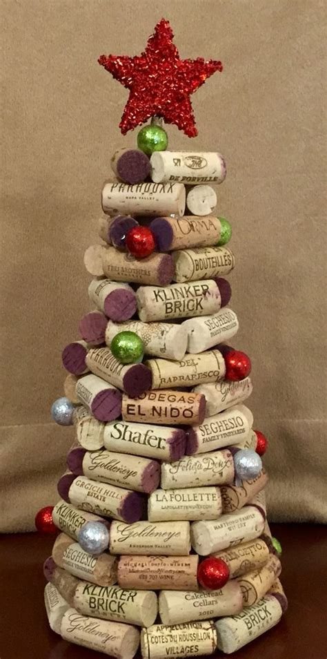 wine cork christmas tree wine cork crafts pinterest
