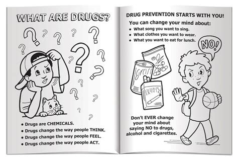 drug prevention free coloring pages