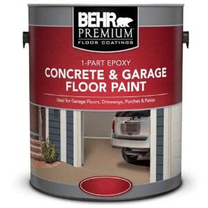 behr premium  gal satin  part epoxy acrylic concrete