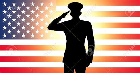 American Soldier Saluting Silhouette