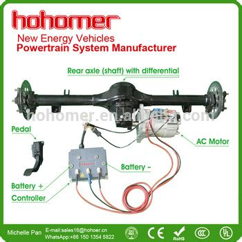 hohomer brushless ac induction motor  controller electric car conversion kits kwkwkw