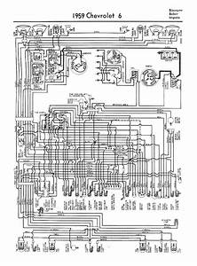 Chevrolet Chevy 1959 Car Wiring Electrical Diagram Manual