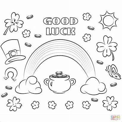 Luck Coloring Pages St Patrick Printable Colorings