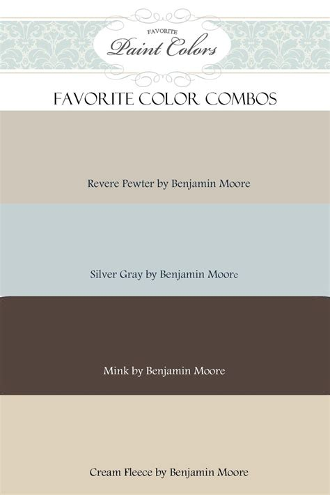 the color pewter color combinations for revere pewter by benjamin