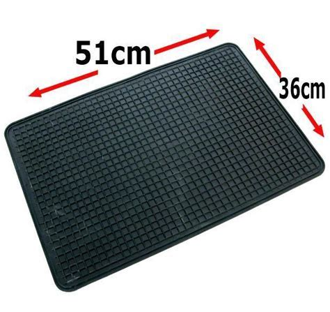 Single Rubber Car Floor Mat Universal 51 x 36 cm Footwell