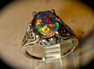 opal engagement ringspectacular genuine australian opal With australian opal wedding rings