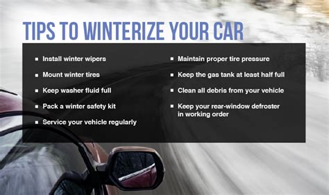 Winter Vehicle Safety Tips