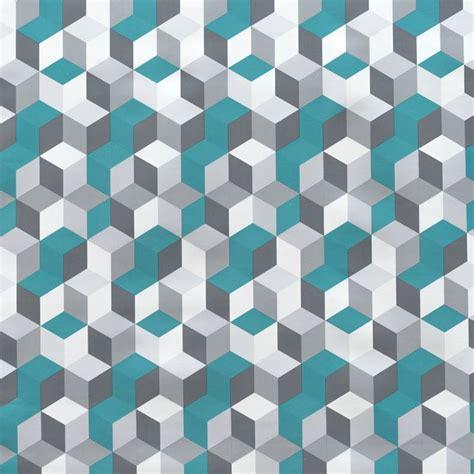 tapis cuisine pas cher toile cirée blanche motif géométrique canard pas cher