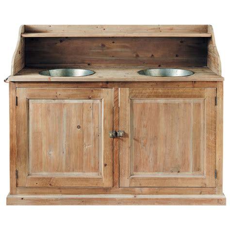 meuble cuisine bois et zinc meuble de cuisine maison du monde 8 meuble