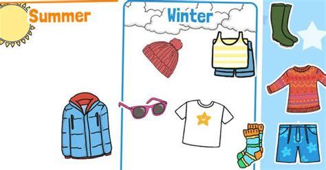 winter  summer clothes sorting activity moonbeams