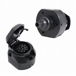 13 Pin Plastic Euro Socket Trailer Plug Van Towbar Towing Light Connector Adapter Caravan Socket