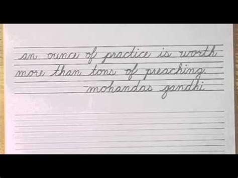 write  cursive lesson   complete