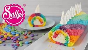 Einhorn Biskuitrolle / Regenbogenrolle / Rainbow Unicorn