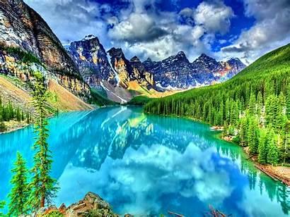 Bright Landscape Mountain Lake Crystal Sky Nature