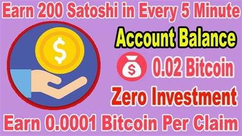 Give us 5 minutes of your time, and we'll send you $10 worth of bitcoin. Free Bitcoins Every 5 Minutes - Earn 200 Satoshi every 5 Minute - YouTube