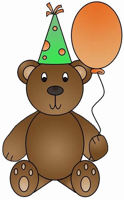 Birthday Clipart Bear Bears Happy Teddy Clip