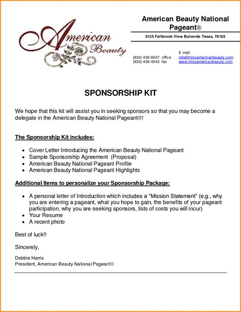 event sponsorship proposal quote templates softball
