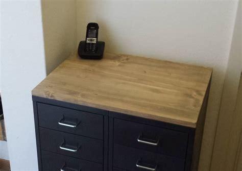 bureau ikea verre meuble industriel avec caissons helmer bidouilles ikea
