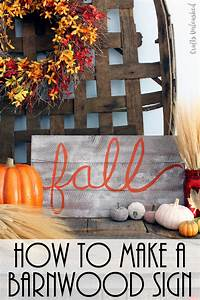 Cottage making mommy fall home inspiration you have to see for Barnwood sign ideas
