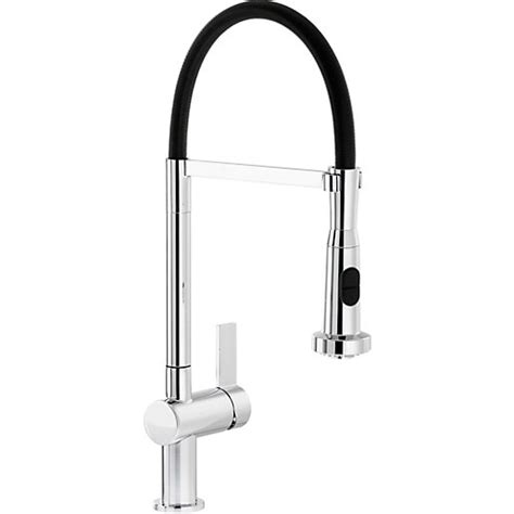 black kitchen sink taps abode ophelia single lever pull out spray sink tap 4715