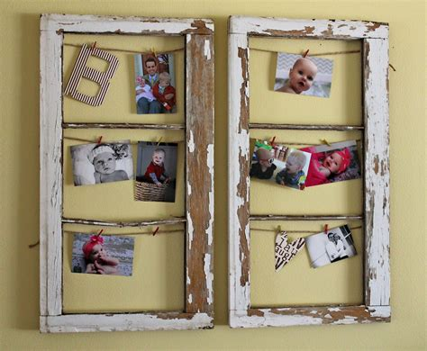 Old Window Projects Old Windows Turned Into Frames Diy