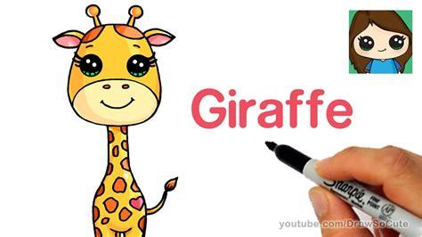 draw  cartoon giraffe easy april youtube