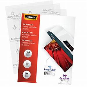 fellowes thermal laminating pouches imagelast jam free With fellowes letter size laminating pouches 5 mil 150 pack