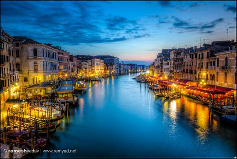 Grand Canal Sunset Venice Italy Architecture And