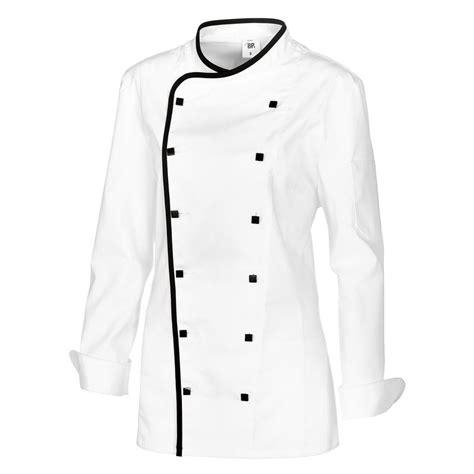 tablier noir de cuisine veste cuisine femme avec liseré comfortech stretch peut
