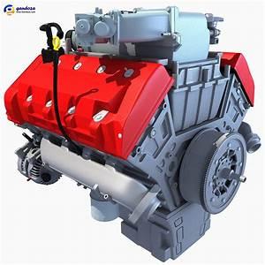 3d Car Engine