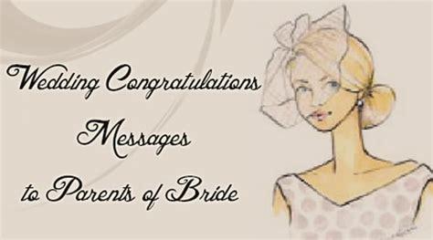 wedding congratulations messages  parents  bride